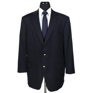 Hart Schaffner Marx Navy Blue Blazer Size 48R